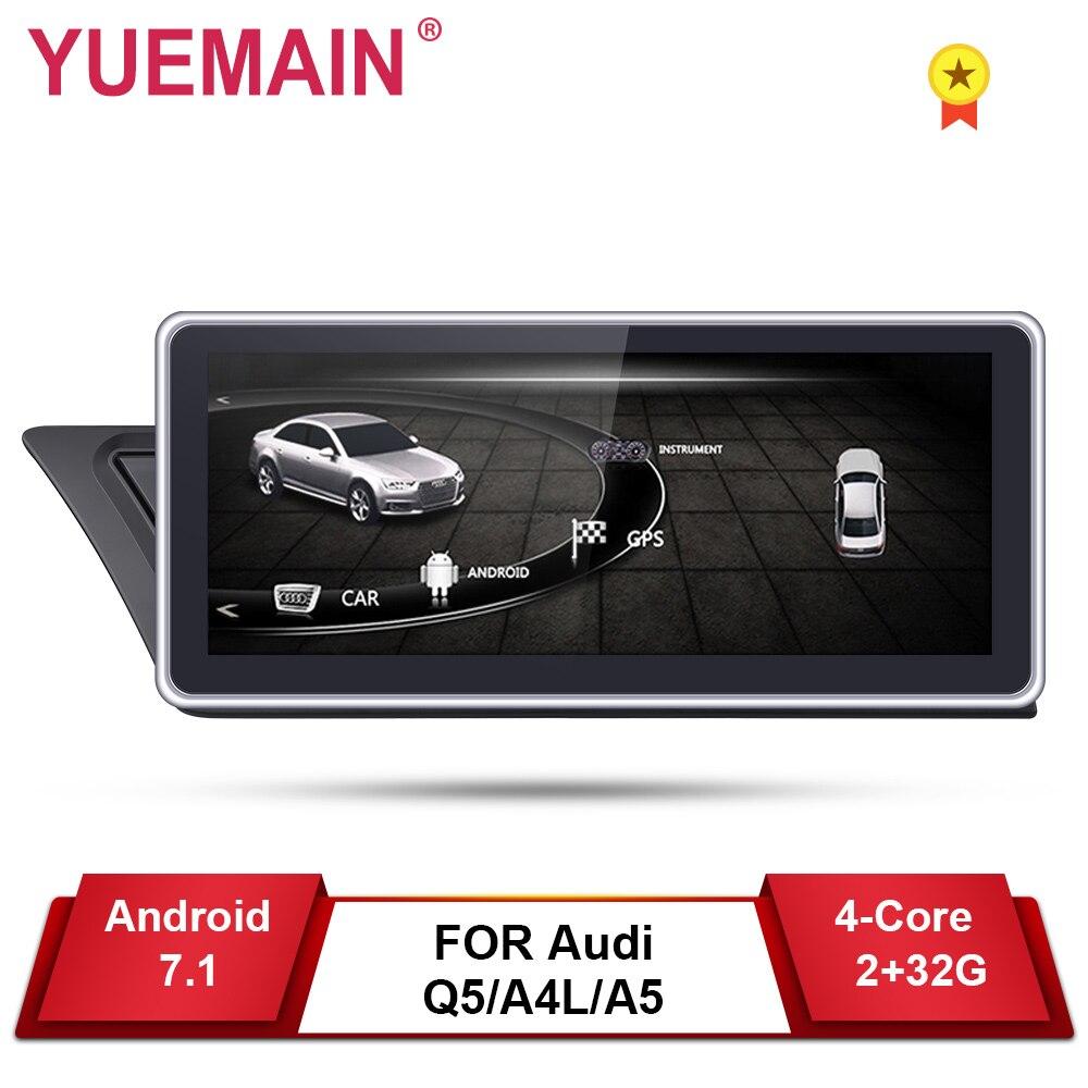 Car DVD Player GPS para Audi A4L B8 A5 2009-2017 Android 7.1 Auto Radio Multimedia navegação 2 GB + 32 GB IPS Tela da câmera Traseira