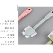 Пластиковая щетка 2 насадки для чистки практичная двухсторонняя обувь с длинной ручкой для мытья обуви Всенаправленная