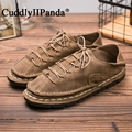 CuddlyIIPanda Brand 2017 Japan Style Genuine Leather Men Casual Shoes Vintage Retro Pure Hand-made Sewing Massage Zapatos Hombre