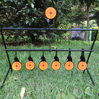 Outdoor Air Gun Shooting Archery 7 Disc Heavy Steel Resetting Target Increases hunting and shooting tactical skills
