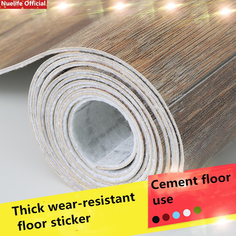 Floor Leather Thick Wear-resistant Waterproof PVC Floor Sticker Office Plastic Floor Living Room Bedroom Kitchen Floor Mat Paper