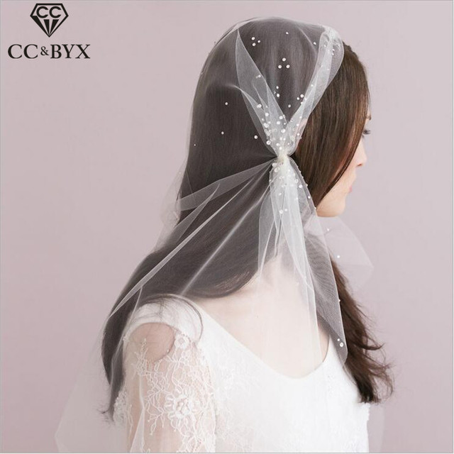 CC Jewelry Bridal Veil Hats Long Bride Bridesmaids Wedding Hair Accessories  For Women Handmade Romantic Marriage 2987e10850c