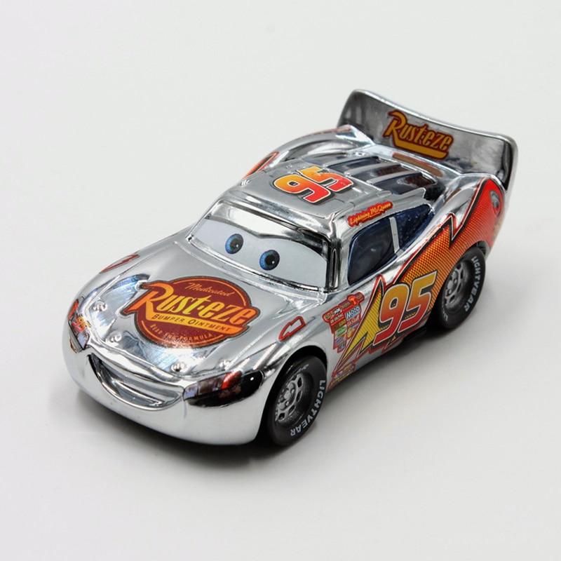 disney pixar cars 3pcs lot plating gold silver lightning mcqueen 1