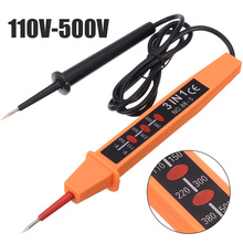 1pc Voltage Circuit Tester Pen For Home Electricians AC DC Circuit Fault Finding Electrical Voltage Tester 110V-500V hot mastech ms5908 rms circuit analyzer tester compared w ideal sure test socket tester 61 164cn 110v or 2