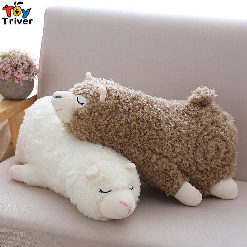 Plush Alpaca Toy Stuffed Cartoon Alpacas Sheep Lamb Dolls Pillow Cushion Baby Kids Children Kawaii Birthday Gift Home Shop Decor in Stuffed Plush Animals from Toys Hobbies