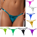 Womens Sexy Micro Mini Thong Metallic Micro G String Underwear Bikini Shorts Lady Sexy Panty Erotic Lingerie briefs F6036a