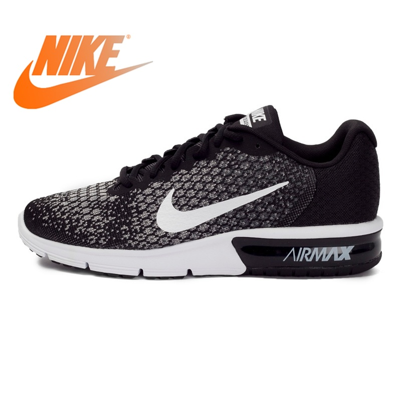 Original Authentic NIKE AIR MAX SEQUENT 2 Men's Running Shoes Sneakers Low Top Sports Outdoor Walking Jogging Comfortable