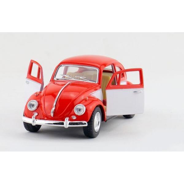 Maisto Yellow Smart Fortwo Open Door Diecast Metal Car: Children Kids Kinsmart 1967 Volkswagen Classical Beetle
