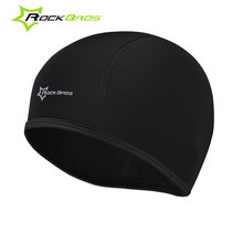 ROCKBROS Mens Windproof Cycling Cap Warm MTB Bicycle Fleece Hats Casquete Bici Winter Sports Bike Cap Headband Black Free Size
