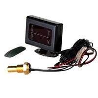 12V/24V Car Universal Digital Water Temperature Voltmeter 2 in 1 Gauge+Water Temperature Sensor Head 10MM 14MM 16MM 17MM 21MM