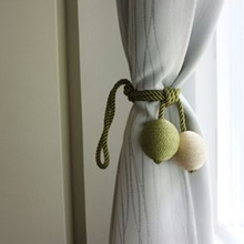 Eco-friendly Hand Made Curtain Straps Simple Curtains Hanging Ball For Curtains Hook Curtain Accessories Tied Rope DF092-40