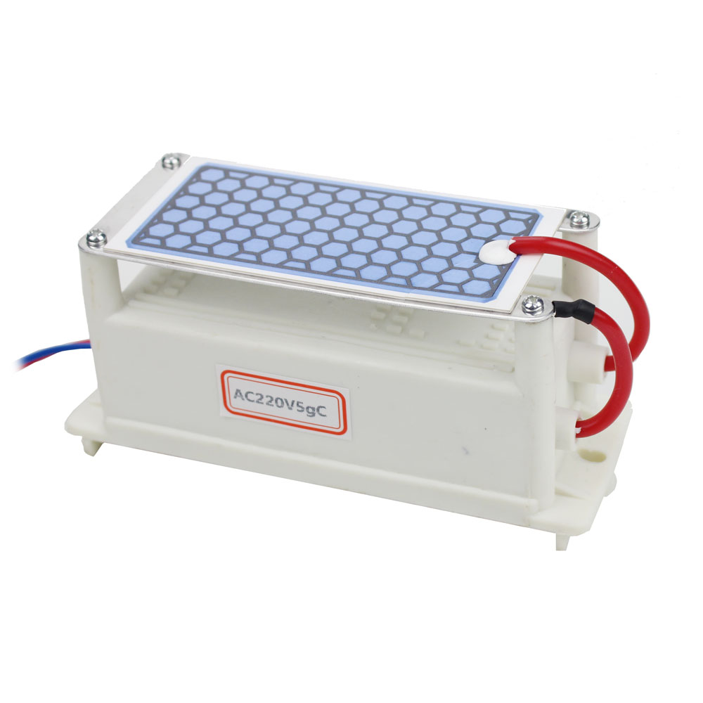 Dropshipping 1pc Ozone Generator 220v 5g Ceramic Plate Integrated Ozone Generator Water Air Ozonizer ozone generator 110v 10g double ceramic plate integrated ozone generator sterilizer air purifier ozonizer for home tools