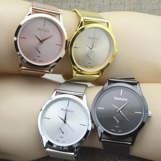 47b2408cb97 Novo 2018 Hot Mulheres Moda Relógios Em Aço Inoxidável Rose Ouro Relógio  Feminino Luxo Quartz Relógio