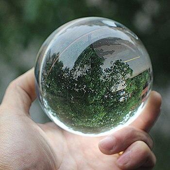 4 Size Bella Sfera Fotografia Lensball Sfondo Della Decorazione Della Sfera di Cristallo di Cristallo di Vetro Chiaro Obiettivo Palla