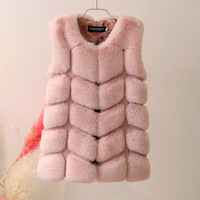 Lagabogy Baby Girls Fur Jackets Coat Fashion Children Artificial Fur Vest 2018 Winter Faux Rabbit Fur Girls Outerwear TZ302