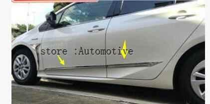 Para Toyota Prius 2016 de 2017 de 2018 Chrome cuerpo puerta lateral de Trim Umbral de puerta nueva marca puerta, carrocería de decoración 4 Uds