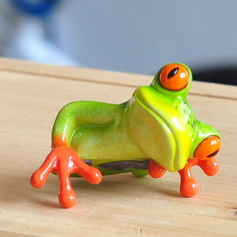 Frosch Figur Dekoration 2017 Neue Künstliche Tier Handwerk Kreative - Wohnkultur - Foto 5
