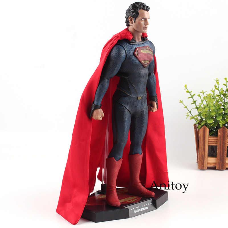 سوبرمان الشكل 1/6 مقياس النادرة الشكل جامعي طبعة PVC سوبر مان جمع لعبة مجسمة للأولاد هدية