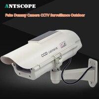 Antscope Solar Power Fake Dummy Camera CCTV Surveillance Outdoor Indoor Waterproof Flashing Red LED Fake Camera
