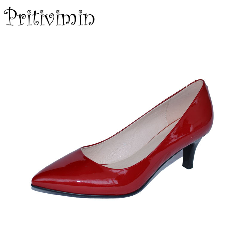 2018 ladies red pointed toe thin heel office shoes women patent leather heels youth girls fashion designer pumps Pritivimin FN82018 ladies red pointed toe thin heel office shoes women patent leather heels youth girls fashion designer pumps Pritivimin FN8
