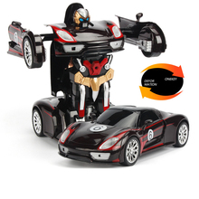 лучшая цена RC Car Transformation Robots Humanoid Vehicle Model Remote Control Car Cool Deformation Car Kids Toys Gifts For Boys Children