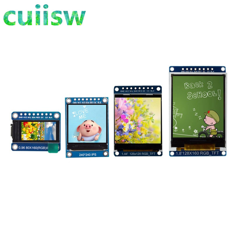 Tft display 0.96 1.3 1.44 1.8 polegada ips 7 p spi hd 65 k módulo lcd a cores completas st7735/st7789 drive ic 80*160 240*240 (não oled)