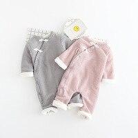 Baby Kids Girls Boys Roupas Bebe Clothing Autumn Velvet Winter Rompers Knitwear Knitted Infants Meninas Overalls