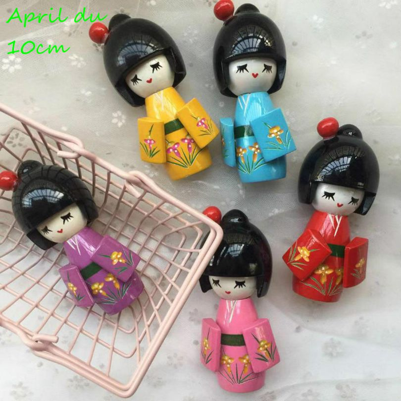 Japanese KOKESHI DOLL ART Travel Luggage Tags With Full Privacy Cover Leather Case And Stainless Steel Loop