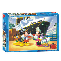 Disney cartoon animation puzzles 2018 children Mickey cruise 1000 pieces puzzles cartoon animation intelligence toy gift