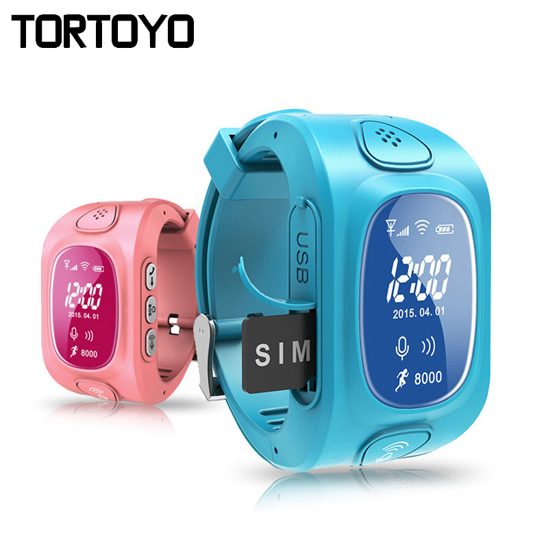 Smart Kid Tracking Watch Wristwatch Y3 SOS Call GPS Google Map Clock Anti Lost Locator Child Pedometer Tracker Device Monitor