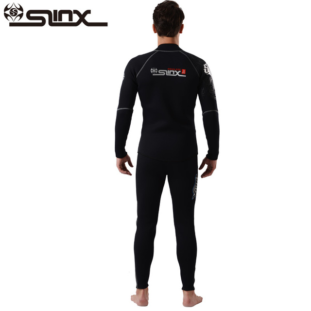 Slinx 3mm Men Women Flocking Scuba Diving Wetsuit Neoprene Winter Fleece Lining Snorkeling Diving Spearfishing Jackets & Pants