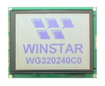 WG320240C0 WINSTAR 5 V un mono 5.7 LCD module d'affichage 320x240 pixels monochrome construit dans avec RA8835 contrôleur. écran rétro-éclairage