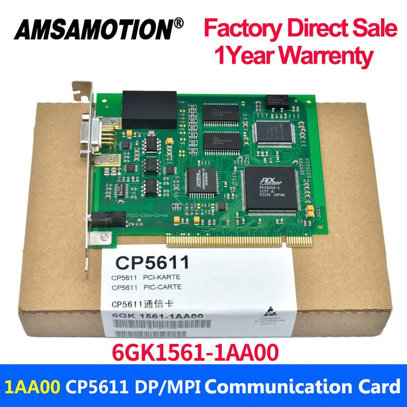 CP5611 PCI PROFIBUS MPI PPI Card 6GK1561-1AA00 Communication Card 6GK 15611AA00 For Siemens S7-200 300 400PLC 1Year Warrenty цены