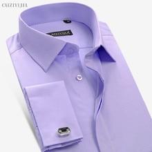 aa4129888 عالية الجودة البريطانية الرجال اللباس قميص طويل الأكمام يتأهل الرجال قميص  الفرنسي البنفسج رجل بلوزة الصين