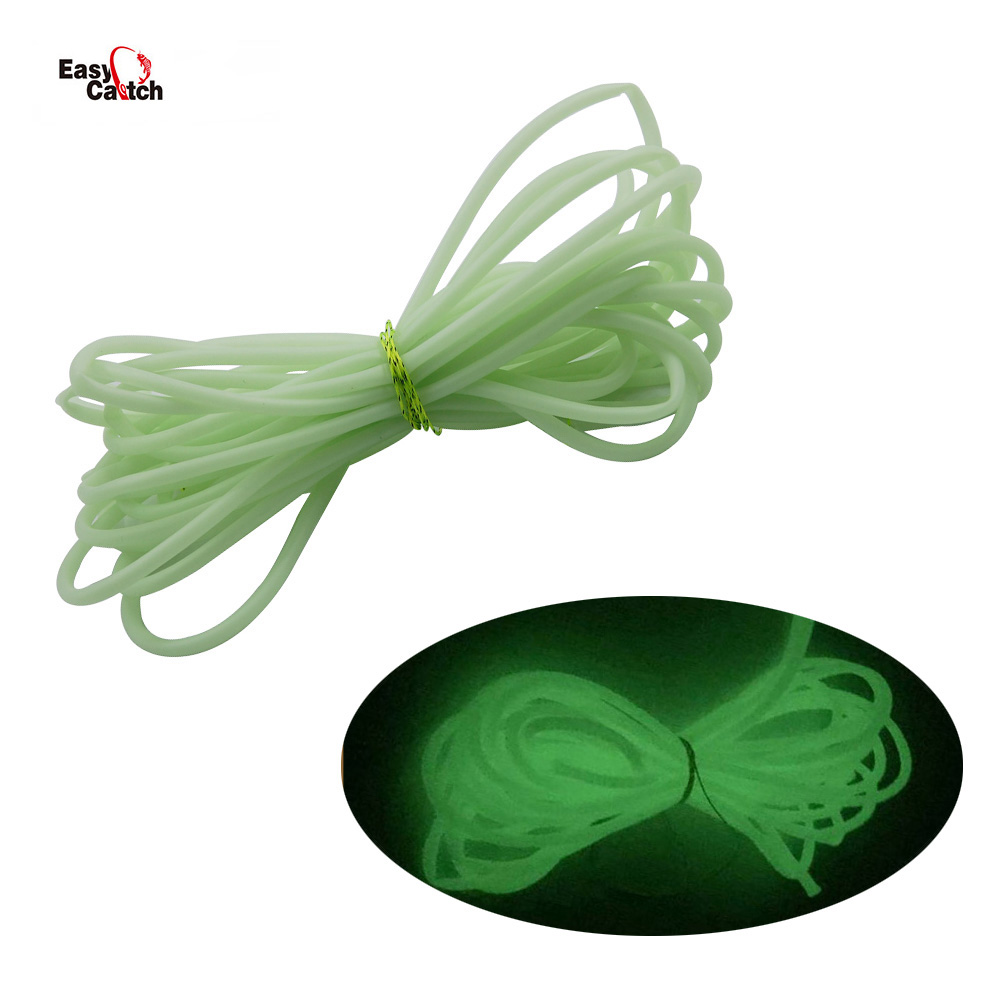 5M Luminous Soft Rubber Fishing Tube Green Glowing In Dark Water Fishing Connector With Fishing Tools Saltwater Fishing Tackle