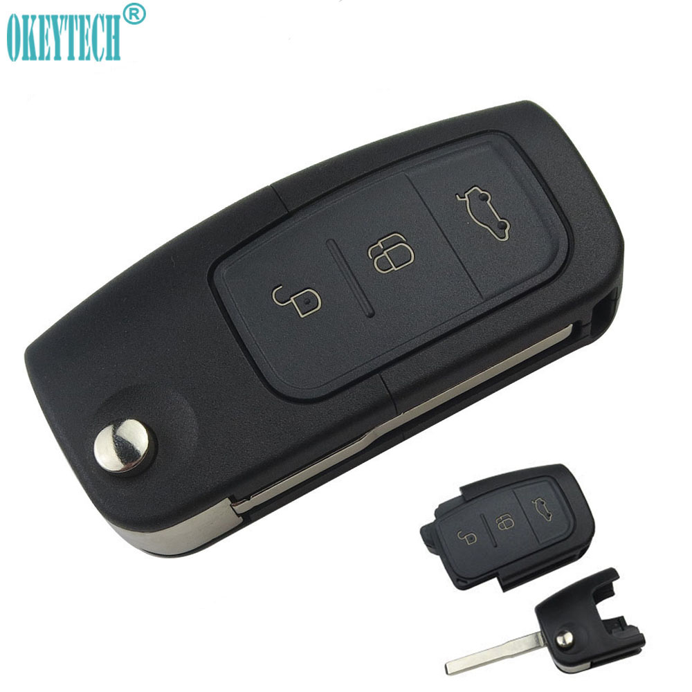 NEW For Ford High Quality Switchblade Flip Remote Key Uncut Blank Blade HU101