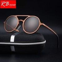 RBROVO HD 100% поляризованный, алюминиевый, магниевый солнцезащитные очки Для мужчин фирменный дизайн UV400 классический ретро металлические солнц