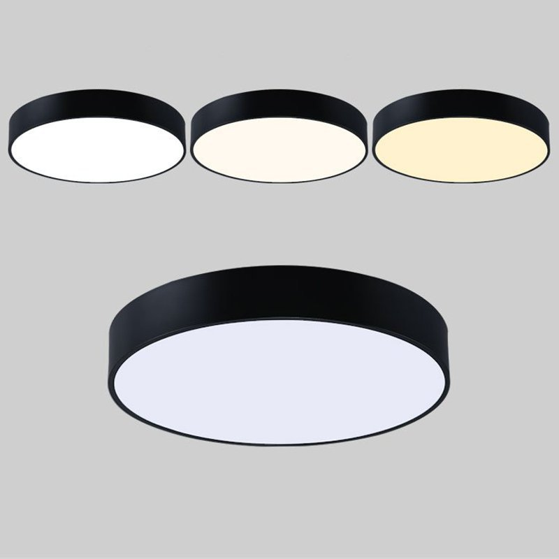 Simple modern round led ceiling light whiteblack circle ceiling simple modern round led ceiling light whiteblack circle ceiling mounted lamp home decor fixtures for study dining room bedroom in ceiling lights from mozeypictures Image collections