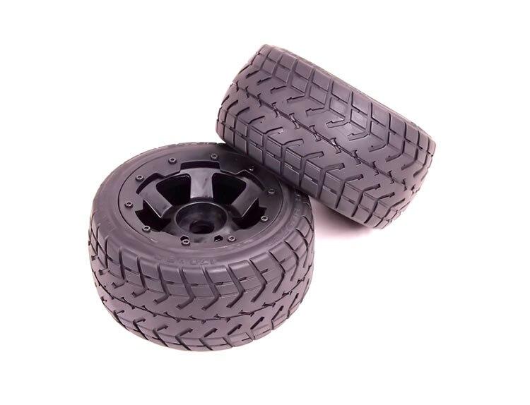 Roue arrière et pneu Baja sur route pour 1/5 HPI Baja 5B pièces Rovan KM Baja pneu d'autoroute pour baja 2 pcs