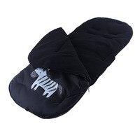 92*42 cm Baby stroller Socks Cartoon zebra sleeping bag high quality infant stroller winter Thickening Feet Cover