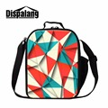 Geometric designs Lunch Cooler Bags for Girls School Fashion Insulated Lunch Bag for Women Work Stylish Picnic Bag Lunch Box Bag