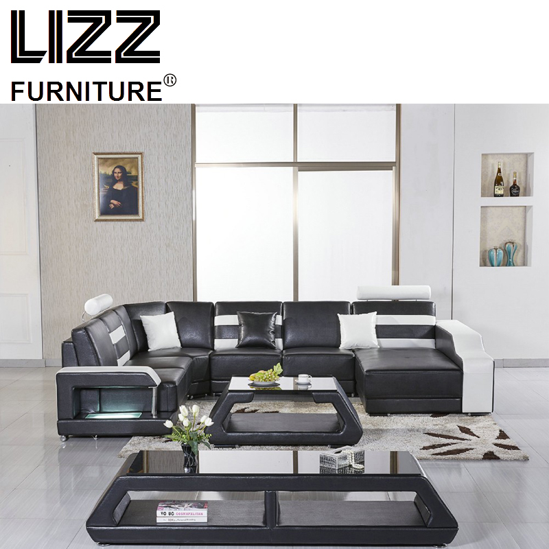 Sales Sofa Sets  Luxury Furniture Set Genuine Leather Sofas For Living Room Modern Corner Sofa Leisure Divany Furniture price couch living room furniture used luxury sofa sets meubles pour la maison leather sofas