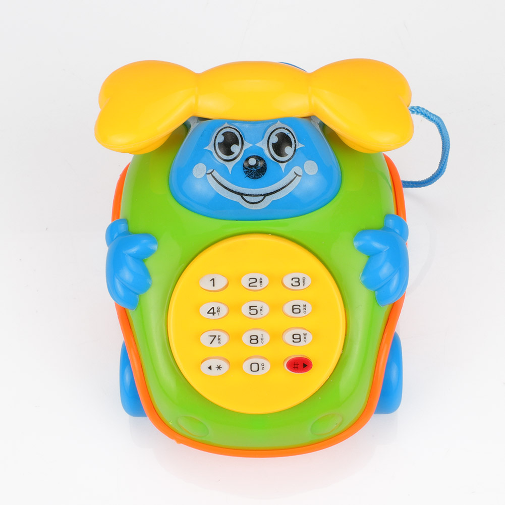 New Baby Electric Phone Cartoon Model Gifts Early Educational Developmental Music Sound Learning Toys YJS Dropship in Toy Musical Instrument from Toys Hobbies