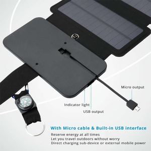 Image 3 - Hoge Kwaliteit Sunpower opvouwbare Zonnepanelen cellen 5 v 10 w Draagbare zonne mobiele lader voor telefoon outdoor camping