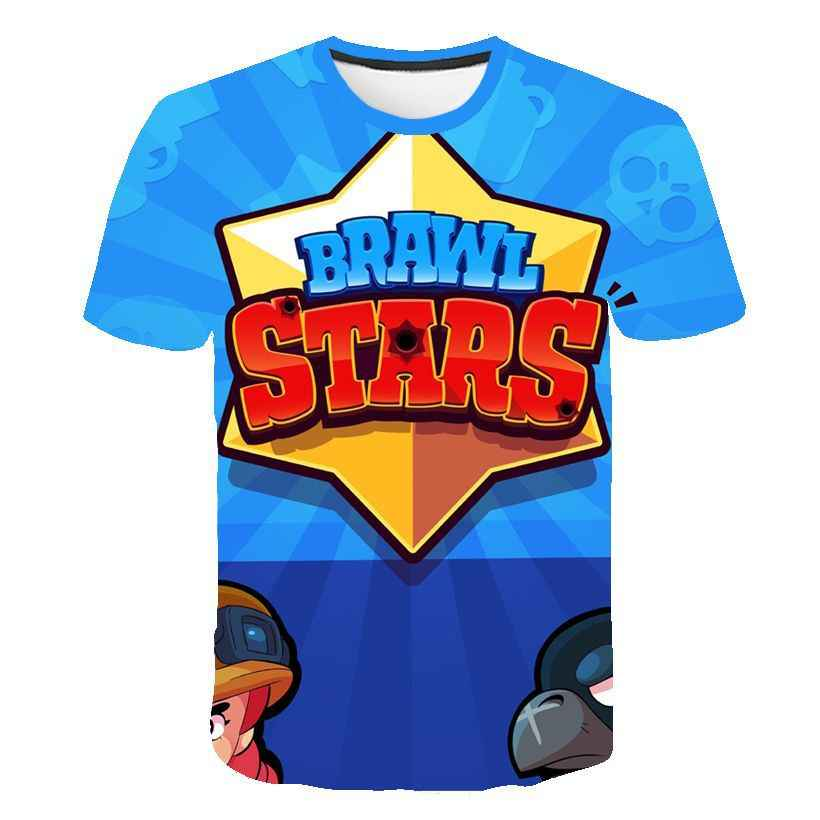 Новинка, Лидер продаж, новая летняя футболка с 3D принтом в виде игры для стрельбы, футболка с короткими рукавами и рисунком, футболка для мальчиков и девочек
