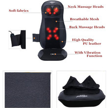 Seat Vibrator Infrared Heating Car Massage Device Neck Massage Pillow For Sale