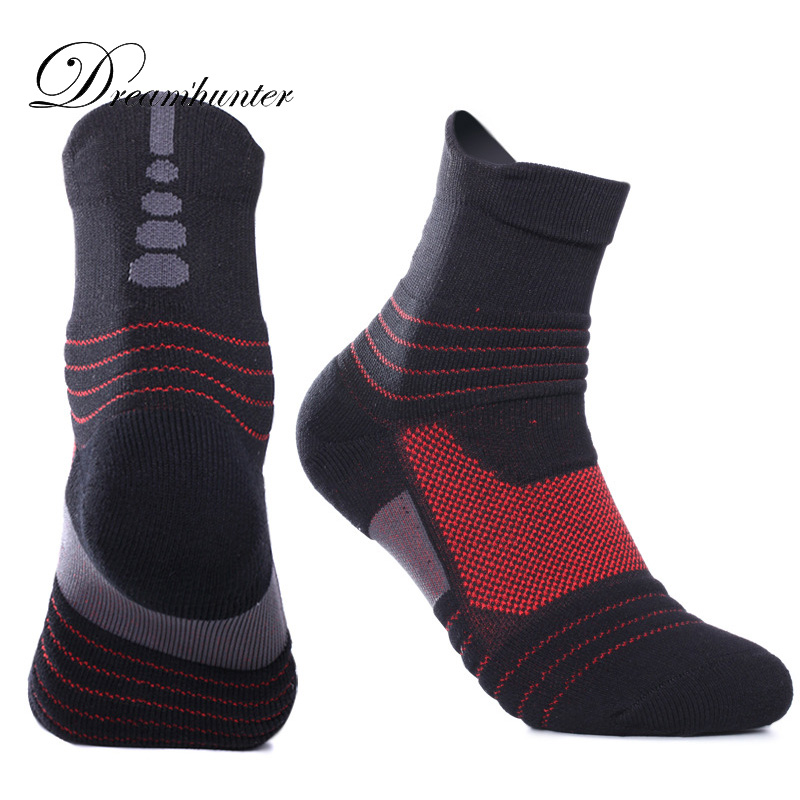 Pair Socks Basketball Unisex Thick Durable Deodorant Outdoor Sports Hiking Camping Cycling Socks Winter Compression Thermosocks