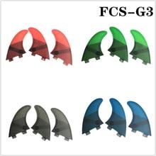 FCS G3 Quilhas yüzgeçleri FCS yüzgeçleri sörf yüzgeci petek fiberglas yüzgeçleri 4 renk