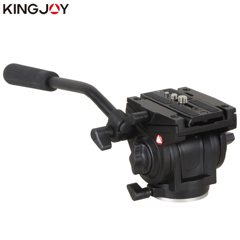 KINGJOY Official VT 3510 Panoramic Tripod Head Hydraulic Fluid Video Head For Tripod monopod Camera Holder