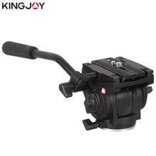 KINGJOY официальный VT-3510 панорамные штативные головка; гидравлика подвижная видеокамера головы для штатива монопод Камера подставка держатель мобильного SLR DSLR